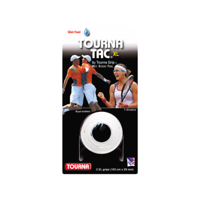 Tourna Grip Tac XL white Tennis overgrip (3 pcs.)