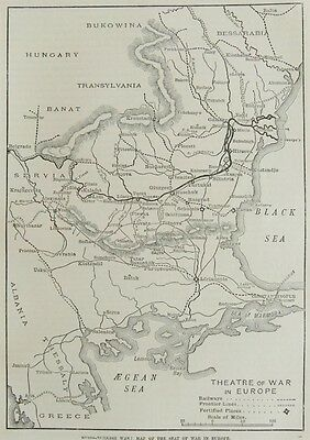 Antique Engraved Map: Russo-Turkish War, Map Of The Seat Of War In Europe 1806