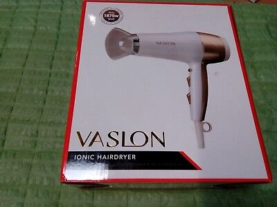 VASLON 1875W Lightweight Low Noise Negative Ions Hair Blow Dryer with Concentrat