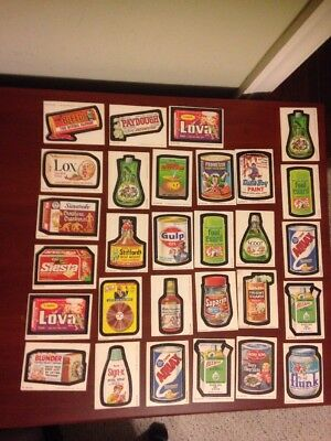 1980 Topps Wacky Packages Lot Of 29 Ex+ Condition 4th Series
