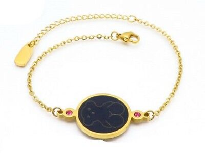 High quality Stainless steel Inlaid shell agate Bear Bracelet