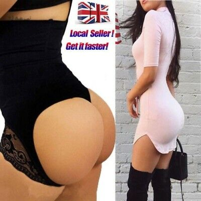 Women's Tummy Control Booty Butt Lifter Enhancer Bum Body Shaper Girdle Pants UK