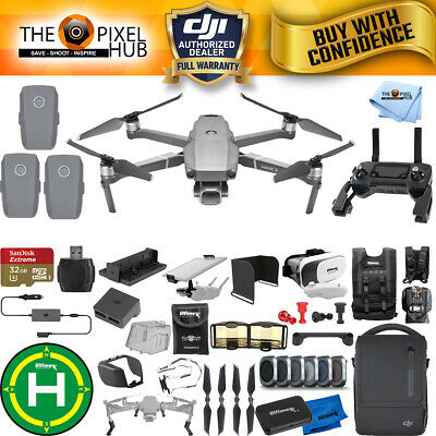 DJI Mavic 2 Pro Fly More Combo W/ 20 Piece Everything You Need Accessory Bundle