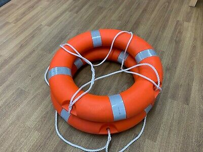 "2 x  Lifebuoy Life Ring Orange 24"" with Reflective Tape  Free Postage"