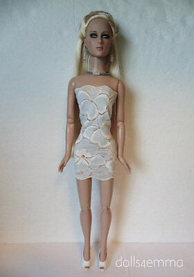 "TYLER Clothes Sydney 16"" handmade Blue Lace Dress & Jewelry Fashion NO DOLL d4e"