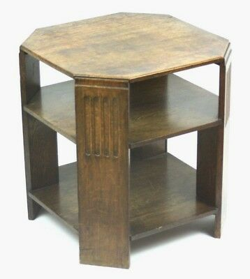 Art Deco Beech 3 Tier Side / Coffee Table - FREE Shipping [PL4729]