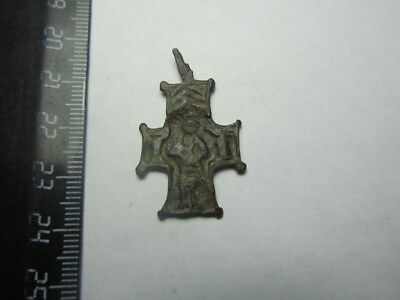 Medieval cross.13-14th century Metal detector finds 100% original