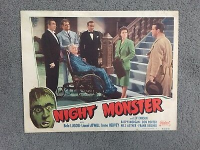 Original Realart Night Monster Lugosi 1949Rr Universal Horror