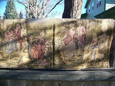 Antique Victorian Tapestry Made In Belgium 1900-1920