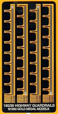Gold Medal Models 160-39 Highway Guard Rails and Reflectors - N Scale