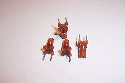 RF Coil inductor miniature adjustable 0.8uH 8turns NOS Qty. 4