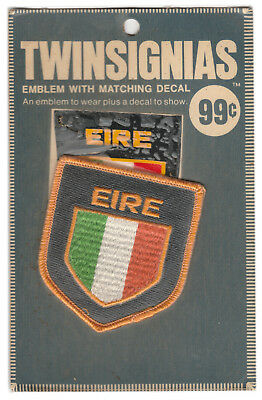 1970's Ireland Travel Souvenir Patch With Decal Twinsignias In Original Package