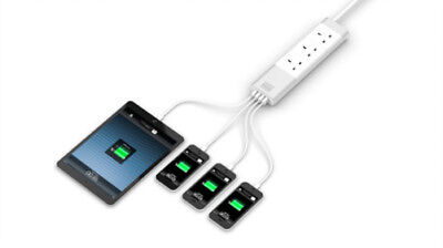 Surge Protected Multi Socket - White UK style & USB outlets all surge protected