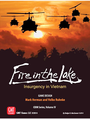 GMT Fire in the Lake 2nd Printing COIN  Series Vietnam MINT in Shrinkwrap