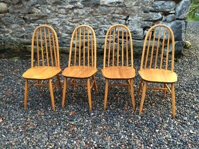 Set of Four Vintage Mid Century Dining Chairs