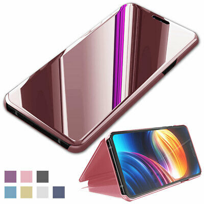 For LG V40 ThinQ Smart Sleep Awake Case Leather Flip Mirror Stand Case Cover