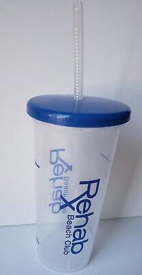 Las Vegas Hard Rock Rehab Pool Party Cup NEW! Rehab Beach Club Cup with Lid