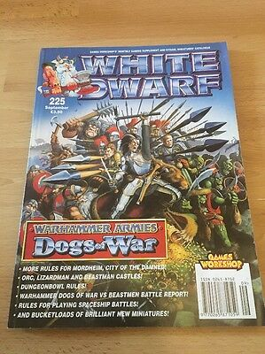 White Dwarf Magazine - Sept 1998 # 225 With Game Unpunched