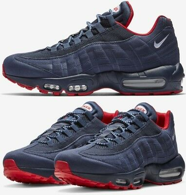 Nike Air Max 95 Sneakers Men's Lifestyle Shoes Midnight Navy/University Red