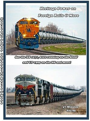 Heritage Power on Foreign Rails & More Railroad Train DVD Please Read BNSF NS