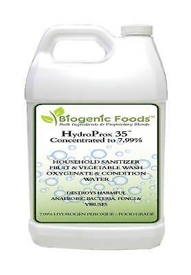 HydroProx 35 - Pure 35% Food Grade Hydrogen Peroxide (Diluted to 7.99%), 1 gal