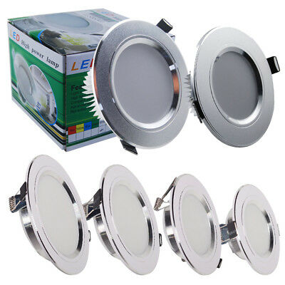 4/10X LED Recessed Ceiling Down Lights 5W 7W 9W 12W Lamp Panel Round Spotlights