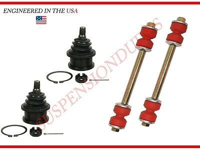 4PC Front Sway Bar Link Kit Front Upper Ball Joints Ford Lincoln K8772 K80014