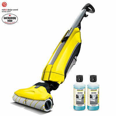 Karcher FC5 Hard Floor Cleaner With 2 X 500Ml Detergent Vacuum Wet Dry Roller