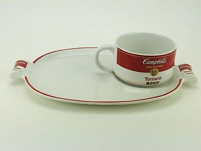 1994 Campbell's Soup Mug Cup and Lunch Snack Plate Set Westwood Nice Collectible