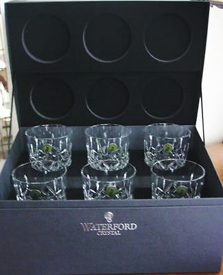 Waterford LISMORE DOF's Double Old Fashioned Set / 6  GIFT BOX - NEW!