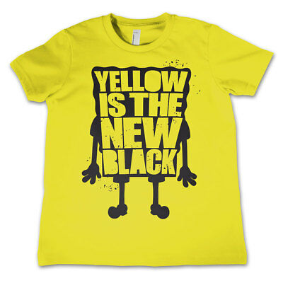 Official Licensed Sponge Bob Squarepants - Yellow Is The New Black Kids T-Shirt