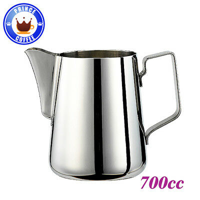 Tiamo Stainless Steel Professional Milk Pitcher Jug with Round Spout 24oz 700ml