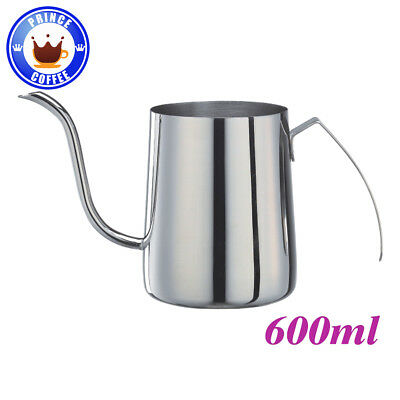 Tiamo Stainless Steel Hanging Ear Hand Blunt Pour Over Drip Pot Kettle 20z 600ml