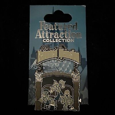 LE Mickey Goofy Donald Haunted Mansion Hitchhiking Ghost Attraction Disney Pin