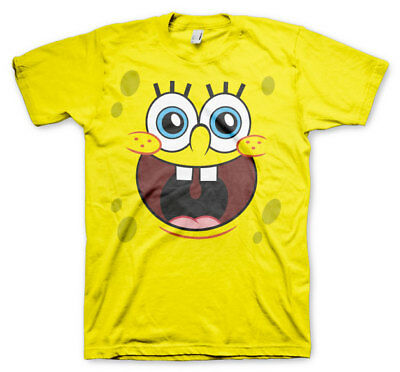 Official Licensed SpongeBob Squarepants - Happy Face Men's T-Shirt S-XXL