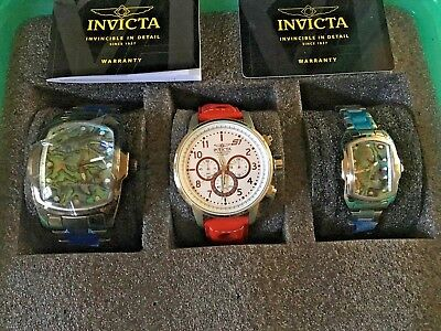 Invicta Special Edition 3 Watches Plus Diver Case Collector's Editions Glow Case