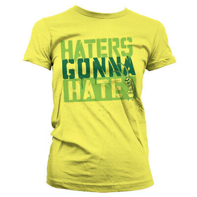 Official SpongeBob Squarepants - Haters Gonna Hate Girly Ladies Fitted T-Shirt