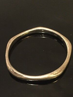 Vintage Sterling Silver shaped sided bangle