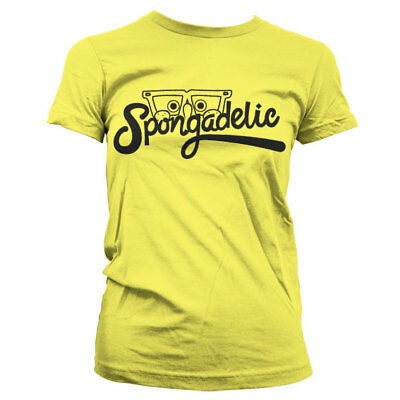 Official SpongeBob Squarepants - Spongadelic Girly Ladies Fitted T-Shirt