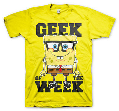 Official Licensed SpongeBob Squarepants - Geek Of The Week Men's T-Shirt S-3XL