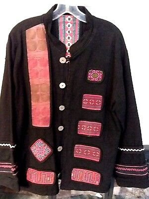 Thai Reversible Tribal Jacket -- Size Large