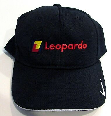 NIKE GOLF New Leopardo Black Baseball Dri-Fit Hat S/M Fitted CAP Embroidered NWT