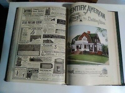 Scientific American Building Edition (1899) 12 Issues Bound in One Book (Rare)