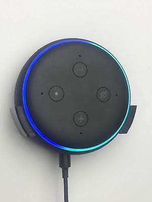 Wall Bracket Mount For Echo Dot 3rd Generation 3 Gen In Black