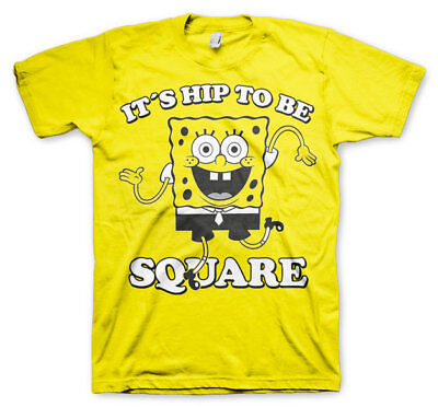 Official Licensed SpongeBob Squarepants - It´s Hip To Be Square T-Shirt S-3XL