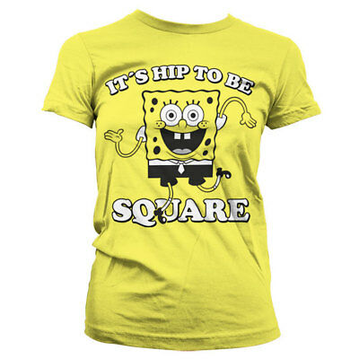 Official SpongeBob Squarepants - It´s Hip To Be Square Ladies Fitted T-Shirt