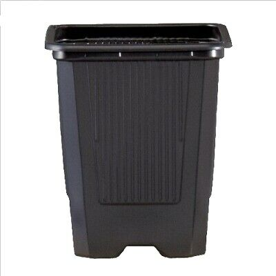 10x Black Square Growing Pots for Plants TEKU VQB - 9x9x9,5cm (0,52L)