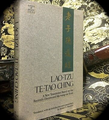 LAO-TZU: TE-TAO CHING ~ 1ST PRINT 1989 HC w/ D/J  DAO DE JING CHINESE PHILOSOPHY