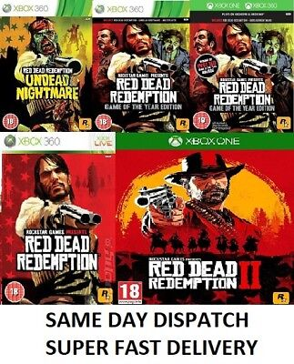 Red Dead Redemption Xbox one Xbox 360 Assorted Bundle - Super Fast Delivery