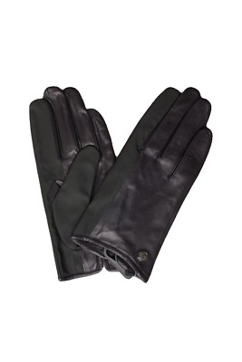 Vince Camuto Women's Black Leather Gloves, Size L